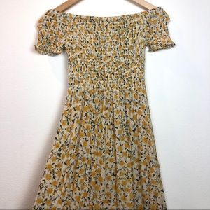 Urban Outfitters Floral Boho Smocked Dress